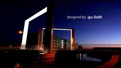 Ligthing design for a entrance bridge to Steenwijk in the Netherlands. Design by ipv Delft.