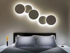 Puck de Vibia - Wall Art - Ambiente pared dormitorio @vibialight