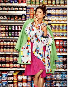 Shay Mitchell: Supermarket Sweep For Vogue