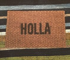 100% Coir -Latex backing keeps the mat firmly in place. -Hand-woven -Length: 2 7 -Width: 1 8 -Thickness: 3/8