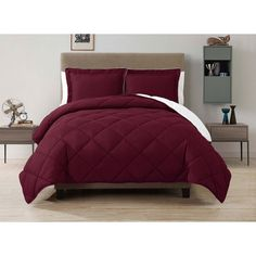 Comforter Set Reversible Bedding Modern Red down Alternative Bed Bedspreads New #Unbranded #Modern