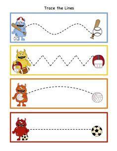 FREE Preschool Printables: Monsters All Stars Printable