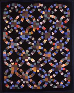 Double Wedding Ring Quilt, 1930-1940, American Folk Art Museum