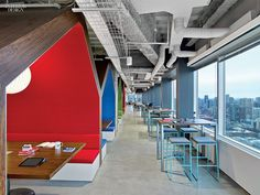 LinkedIn Toronto HQ office, Canada. Lining the meeting pods, acoustical fabric blends goat's hair with nylon and viscose. #office