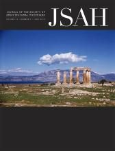 JSAH_JOURNAL OF THE SOCIETY OF ARCHITECTURAL HISTORIANS, v. 74-nº2, 2015 http://encore.fama.us.es/iii/encore/record/C__Rb1261137?lang=spi