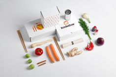 """Poland basedKEJJOdesigns branding and packaging for FooderBox, a online  food boutique that delivers a chef-designed meal to your doorstep:      """"FooderBox is a food boutique where you can order online fresh products     and with chef-designed recipe cook your perfect meal in even less than     30 minutes. There are several ways to order food via service - monthly     subscriptions or onetime purchase. Choose the delivery date and enjoy     the dish prepared by yourself."""""""