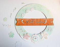 MonRoy / Dekoračný veniec Scrapbooks, Wedding, Valentines Day Weddings, Scrapbooking, Weddings, Scrapbook, Marriage, Chartreuse Wedding, Guest Books