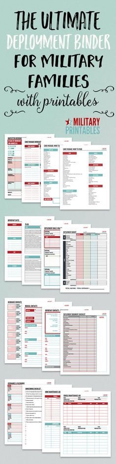 Keep organized for the next military deployment with printables and checklists