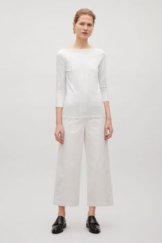 COS   3/4 sleeve wide-neck t-shirt