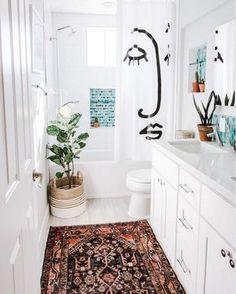 boho Bathroom Decor home decor on a budget apartment inspiration interior design, apartment bathroom decor, chic bathroom decor Apartment Inspiration, Bathroom Inspiration, Bathroom Inspo, Bathroom Designs, Cute Bathroom Ideas, Home Interior, Bathroom Interior, Budget Bathroom, Remodel Bathroom