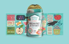 Brilliant Canned Food Packaging For Books With Meal-Related Titles - DesignTAXI.com