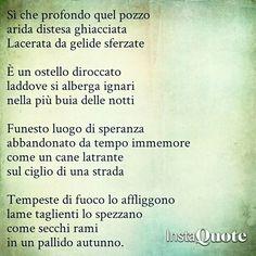 Sí che profondo quel pozzo  #poesia #poem #poetry #pensieri #parole