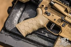 New FDE Hexmag  Rubber Tactical Grip and Magazine in this photo from Greg Skaz Photography