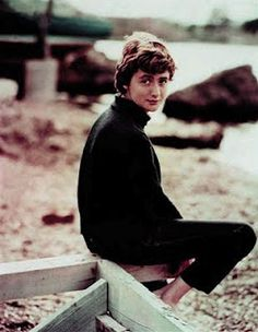 """Françoise Sagan At The Beach. """"Françoise Sagan's my style icon because she's very masculine yet sexy at the same time. Lou Lesage, Françoise Sagan, Beatnik Style, Jean Seberg, The Future Is Now, Book Writer, Fashion Photography Inspiration, Fashion Mode, Role Models"""