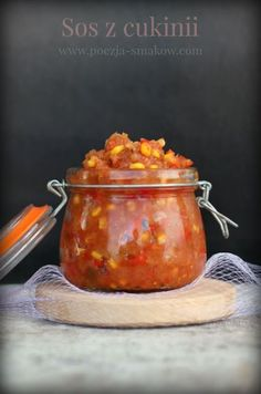 Sos z cukinii na zimę, do mięs i makaronów. - Katarzyna Rzepecka Cooking Recipes, Healthy Recipes, Meals In A Jar, Sugar Free Desserts, Slow Food, Sauce, Food Presentation, I Foods, Food To Make