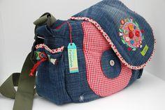 Die alte Jeans wird wieder getragen..über der Schulter ;-)