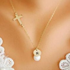 14k Gold Filled Cross necklace