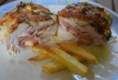 Φιλέτο κοτόπουλο γεμιστό & κρέμα στον φούρνο !!! ~ ΜΑΓΕΙΡΙΚΗ ΚΑΙ ΣΥΝΤΑΓΕΣ