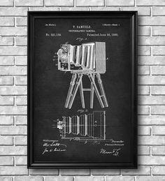 Vintage 1885 Photographic Camera Patent Drawing Retro by RetroFoto, $4.99