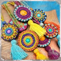 Custom design necklaces for order whatsapp 05373869917 - Jewellery Bead Embroidery Jewelry, Textile Jewelry, Fabric Jewelry, Beaded Embroidery, Hand Embroidery, Beaded Jewelry, Diy Jewelry, Handmade Jewelry, Jewelry Making