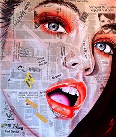 paintings on newsprint - Google Search