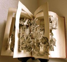 Altered book Alice in Wonderland by Raidersofthelostart on Etsy, $300.00