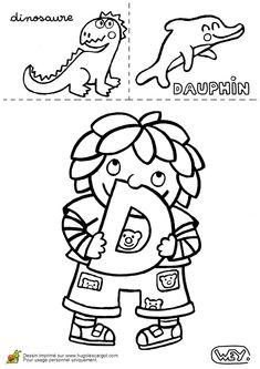 Lettre D Dinosaure Dauphin, page 4 sur 26 sur HugoLescargot.com