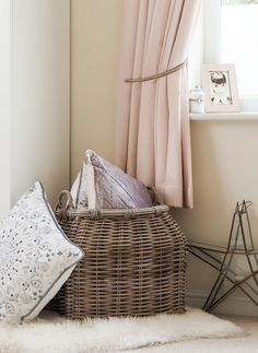 This rattan wicker basket is ideally suited as a general storage floor basket or as a log basket. It has strong carry handles for easy lifting and its neutral muted tones would suit almost any room. Lined Wicker Baskets, Wicker Baskets With Handles, Rattan Basket, Storage Baskets With Lids, Tidy Kitchen, Cupboard Storage, Soft Furnishings, Flooring, Stylish