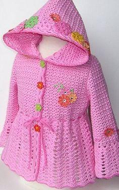Crochet Designs Free: crochet coat wonderful pink. Graphical