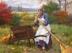 "Southwest Gallery: Greg Harris ""Woman with a Wheelbarrow"" 30 x 40 oil on canvas $19,500"