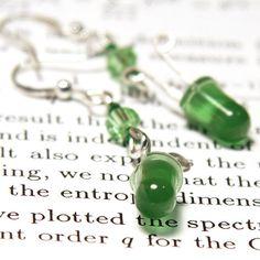 Wearable Tech, Electronic Jewelry Green LED Earrings. Computer Earrings…
