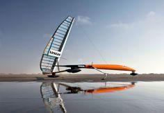 Half boat / half plane — the Vestas SailRocket Mark 2 is designed to break the speed record for sailing.