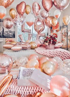 Balloons are synonymous with celebrations and an inexpensive way to make everything look festive! Surprise your girl with an avalanche of balloons on her return home from work. As soon as she opens the front door she'll be instantly greeted by an array of colors! Birthday Goals, 23rd Birthday, Host A Party, Diy Party, Sweet 16 Parties, Holiday Parties, Valentines Day Party, Party Entertainment, Festival Party