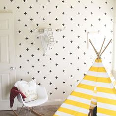 This lumberjack inspired toddler room is a must see! Check out all the fun, modern, and vintage details!