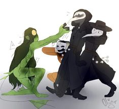 Fnaf, Scp Cb, Scary, Creepy, Night In The Wood, Plague Doctor, Death Note, Drawing Reference, Funny Cats