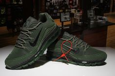 bb42dbc6c86a2 Men's Nike Air Max 2018 Elite KPU TPU Shoes Army Green [1-1710AXMM-6] -  $79.00