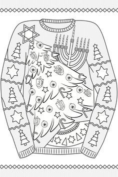 Creative Haven Ugly Holiday Sweaters Coloring Book - Adult Coloring Pages Dover Coloring Pages, Printable Coloring Pages, Adult Coloring Pages, Coloring Books, Ugly Holiday Sweater, Ugly Sweater Party, Christmas Sweaters, Christmas Coloring Sheets, Doodle Pages