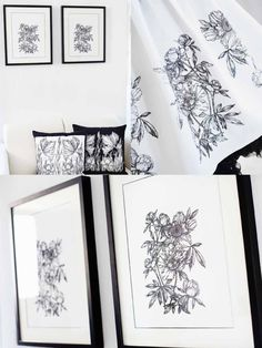 Bring elegance and beauty to your home! Stitch out these beautiful Line Art Flowers - Embroidery Collection: Line Art Flowers #263