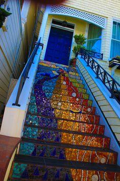 Mosaic Stairs | Flickr - Photo Sharing! Justin Steinbaum