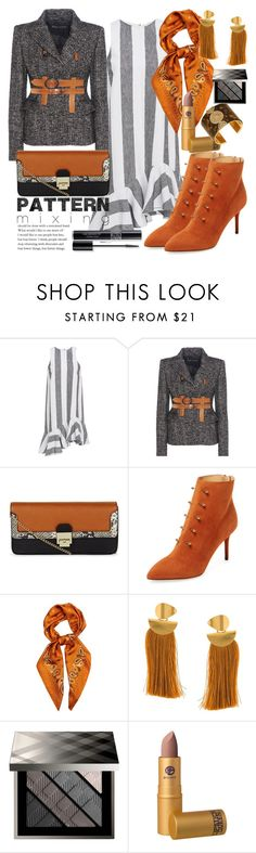 """""""Pattern mixing"""" by marionmeyer ❤ liked on Polyvore featuring Paper London, Tom Ford, New Look, Charlotte Olympia, E L L E R Y, Lizzie Fortunato Jewels, Burberry, Lucky Brand, Christian Dior and patternmixing"""