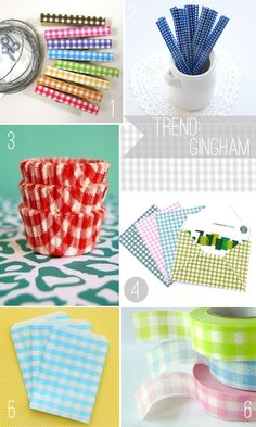 loving these gingham craft supplies