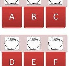 Free Apple Printable Alphabet A-Z and Numbers 1-25 #fall #preschool #kindergarten