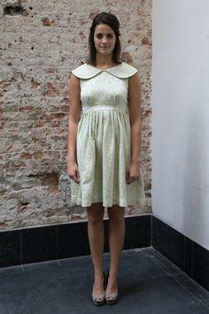Mint groene en gele jaren 50 jurk