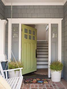 Green Front Door Paint Color via BHG.com