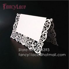 Free Shipping Laser Cut Paper Place Card Wedding Table Card Holder For Party Decor Table Number, Lace Invitation Cards, 50pcs