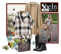 """""""Shein Cardigan Sweater"""" by jennifer-walters ❤ liked on Polyvore featuring mode"""