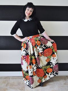 Black Floral Midi Skirt, Mini Skirt or Maxi Ball skirt  full, gathered skirt all sizes custom made to order