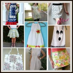 How to Sew a Pillowcase Dress and More: 16 Easy Sewing Projects that Use Pillowcases. From http://www.allfreesewing.com/Refashioning-and-Upcycling/How-to-Sew-a-Pillowcase-Dress-and-More-Easy-Sewing-Projects-that-Use-Pillowcases