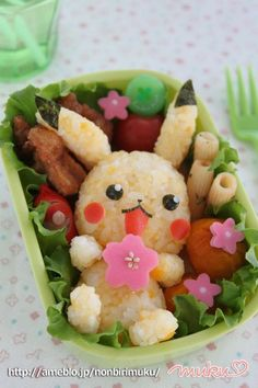 Pikkachu Rice Ball Bento Box Recipe