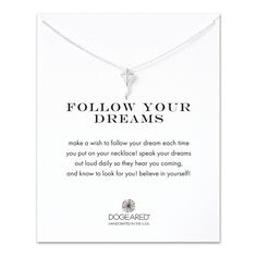 follow your dreams kite necklace, sterling silver - Dogeared